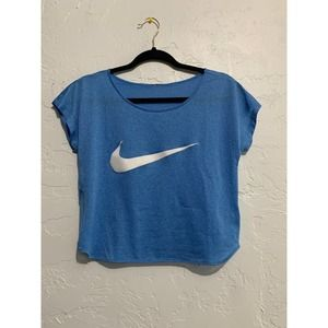 Nike Blue Loose Fit Active Crop Top Small